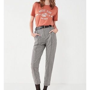 NWT Urban Outfitters Black White Gingham Pants